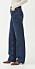 mörkblå jeans från arket med högmidja och raka drag.