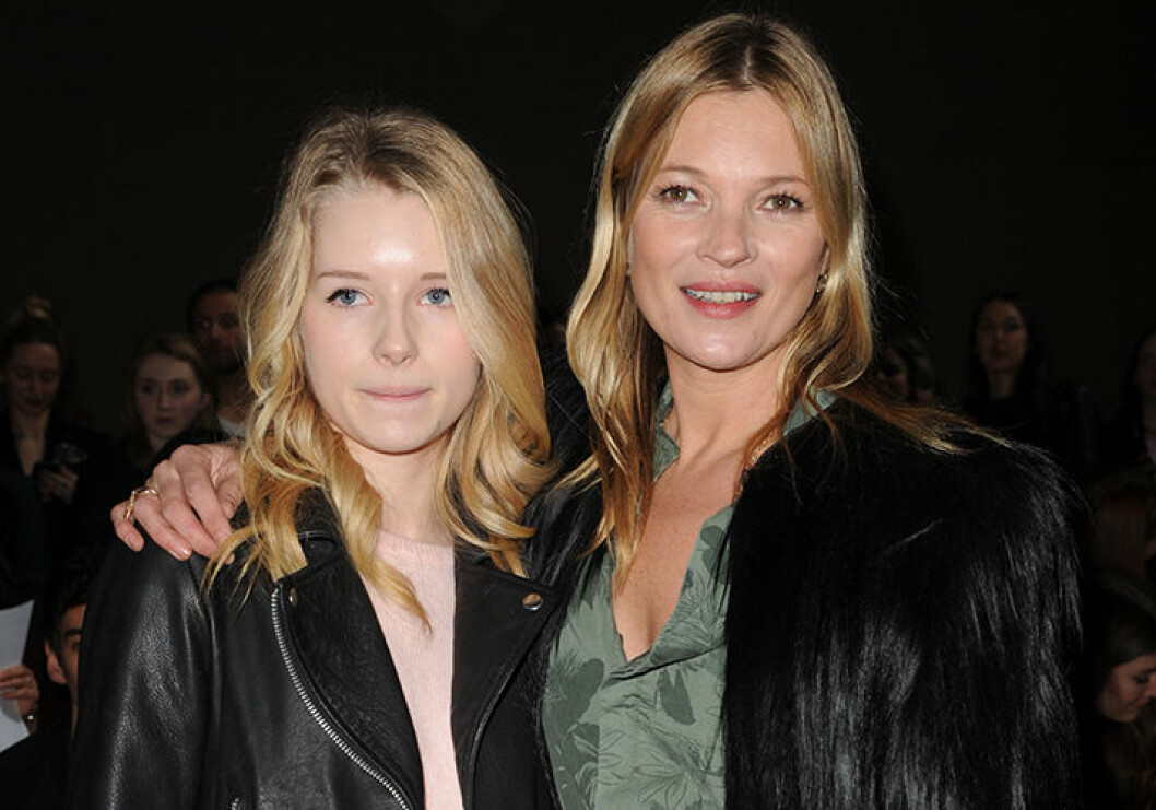 Kate Moss With Her Sister Lottie Moss