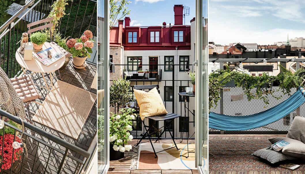 mysig balkong - inspiration och tips