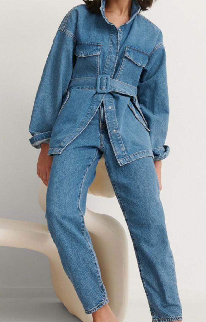 jeansjacka med skärp