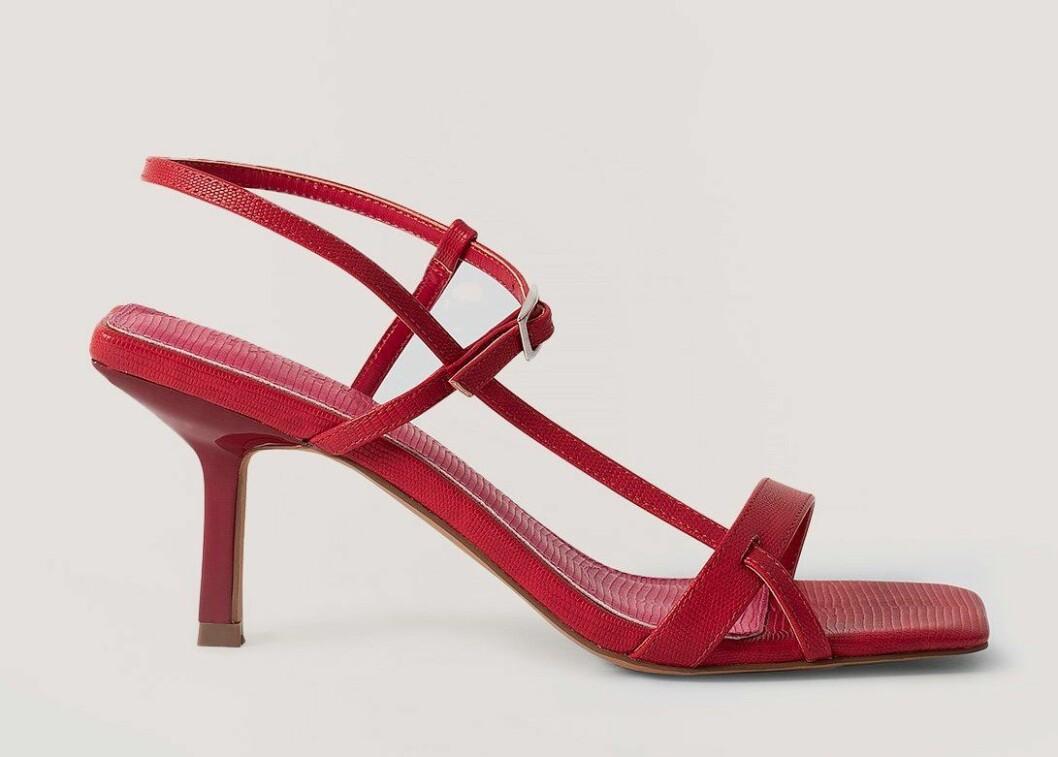 röda sandaletter från nakd med smala band