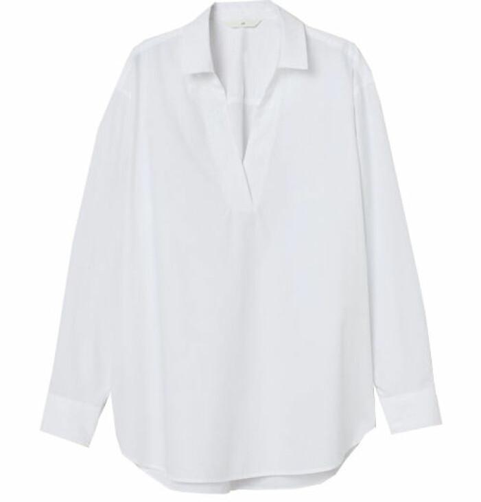 vit blus med krage