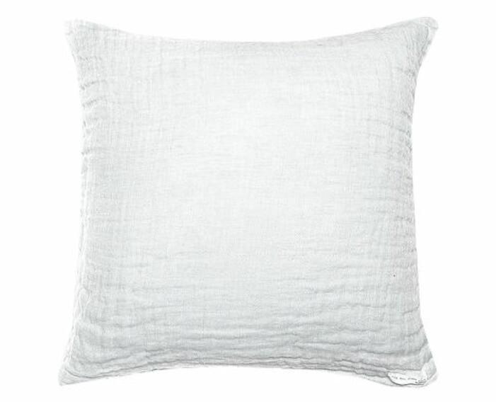 vit kudde i linne från himla