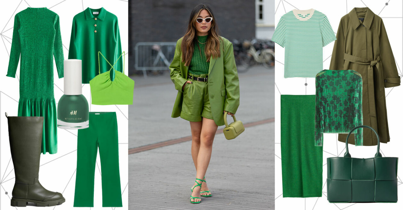 grönt mode dam 2021