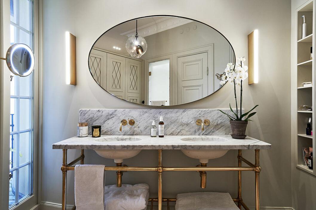 Lyxigt badrum hos Nathalie Schuterman
