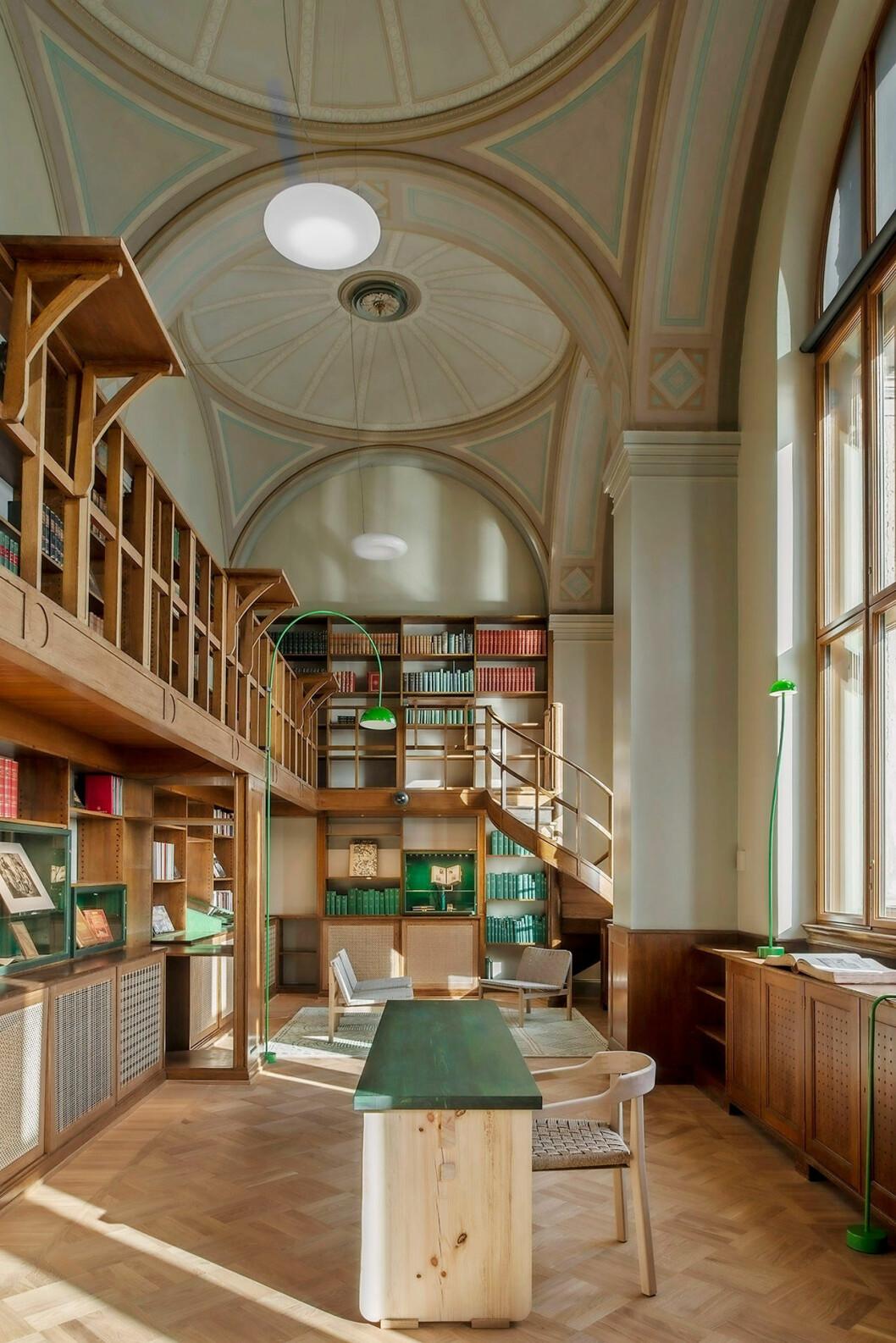 Det gamla biblioteket har inretts av Emma Olbers.