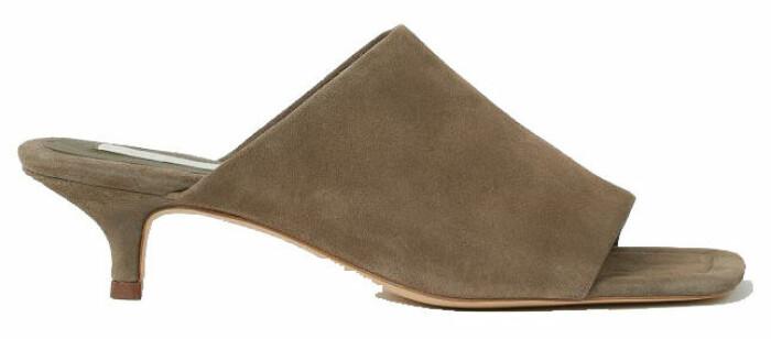 Nätta slip-in sandaletter med låg klack från H&M.