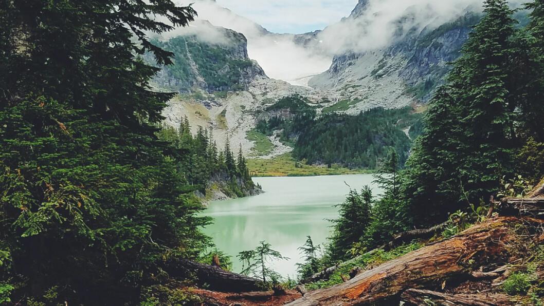 vacker sjö och natur