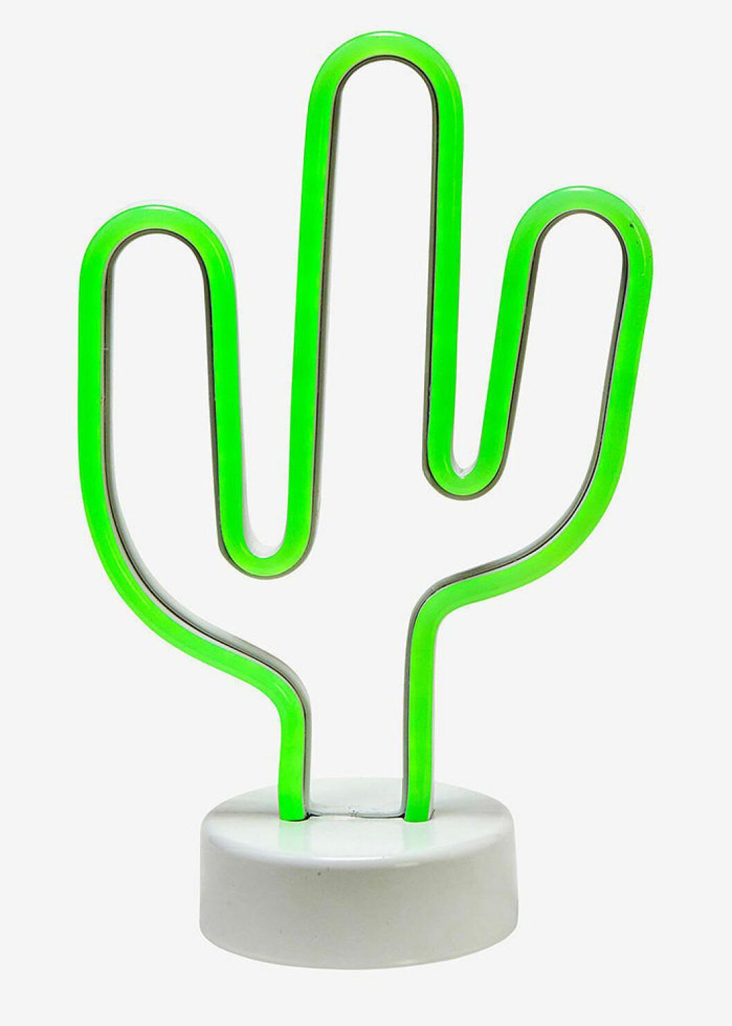 Neonlampa i form av en kaktus