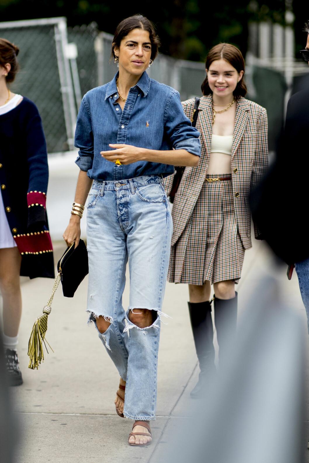 streetstylelook med jeans.