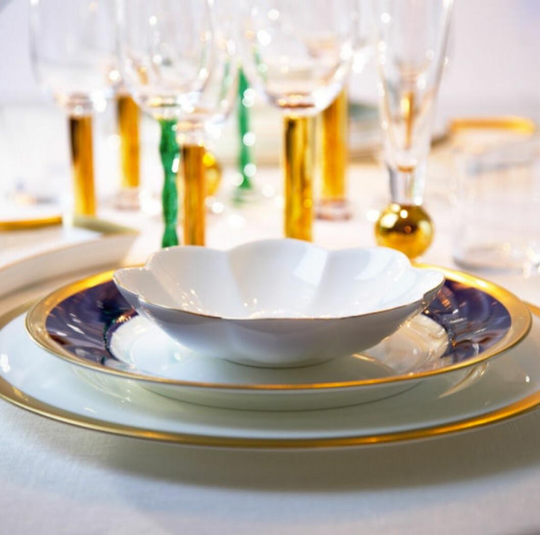 Porslinet på Nobelfesten kommer från Rörstrand och glasen från Orrefors.