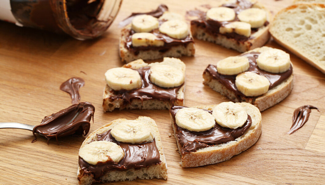 Mackor med nutella och banan. Så gott och enkelt!