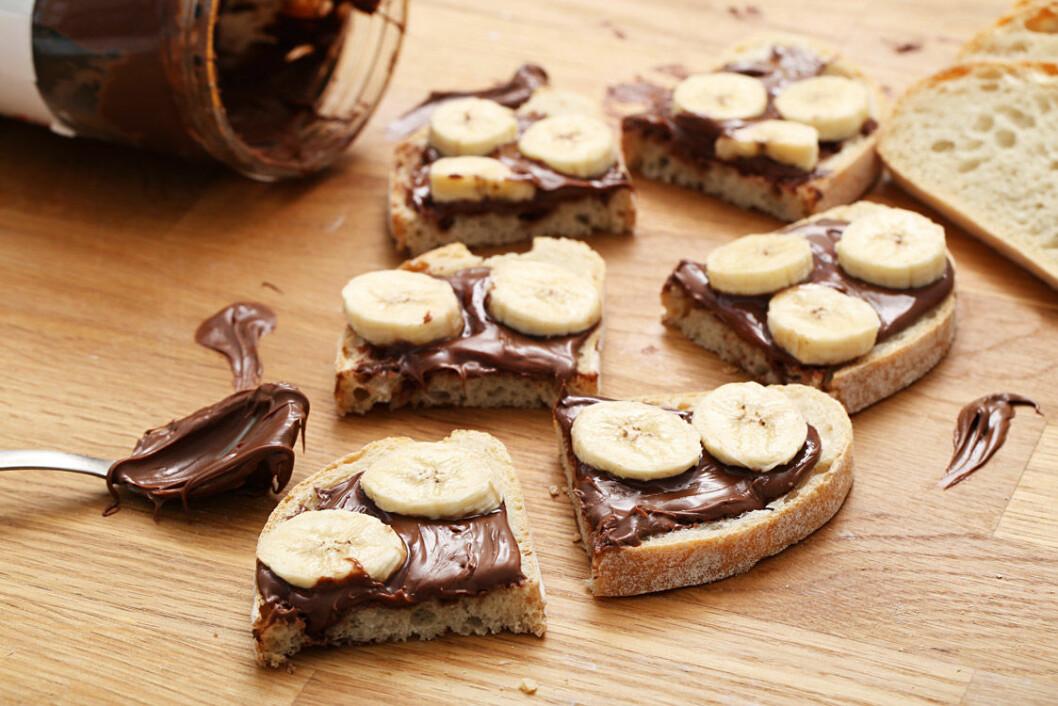 Mackor med nutella och banan.