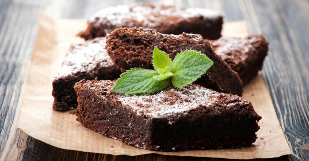 Brownies med Nutella.