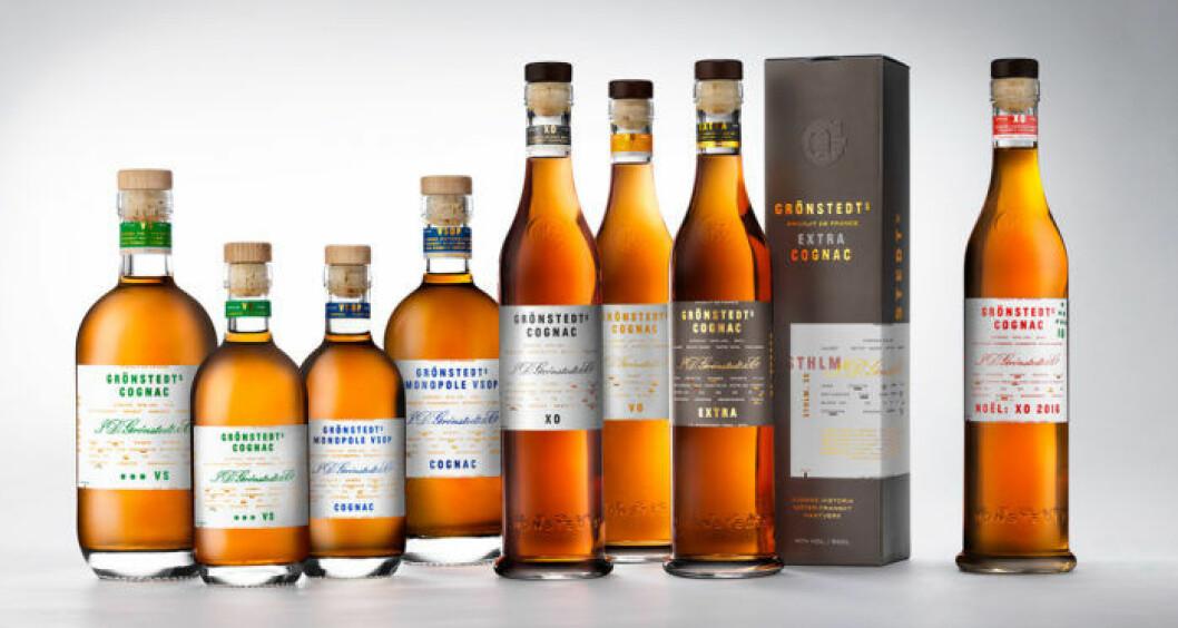 Grönstedts cognac.
