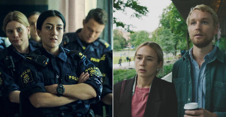 Gizem Erdogan som polis och Alba August och Björn Gustafsson