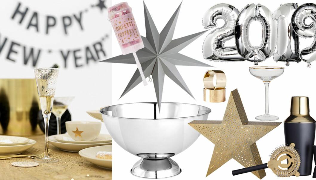 Detaljer till nyårsfesten