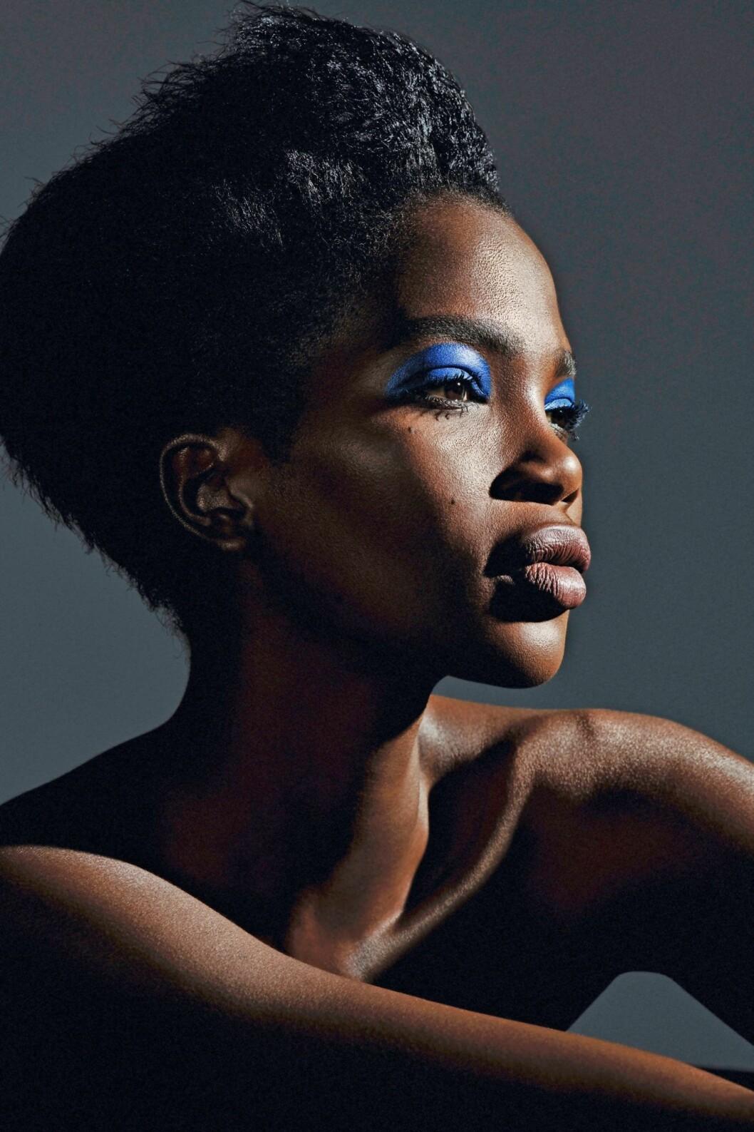 Festsminkning och nyårssminkning 2019, blå ögonskugga