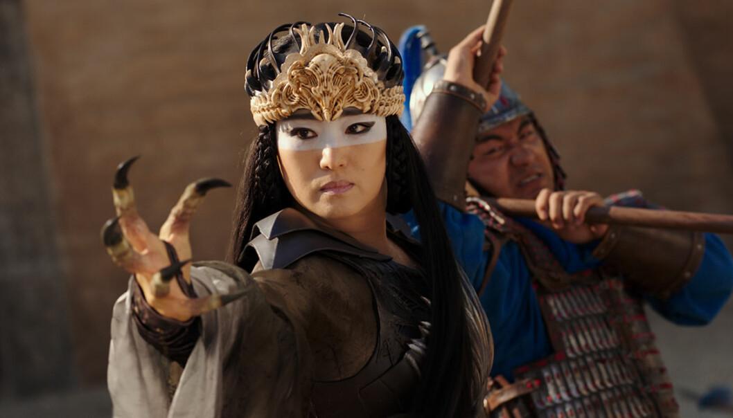 Bild från den nya filmen Mulan