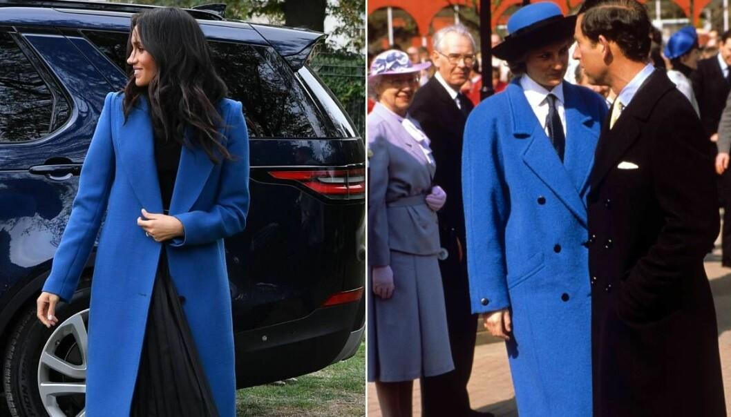 Meghan och Diana i blått