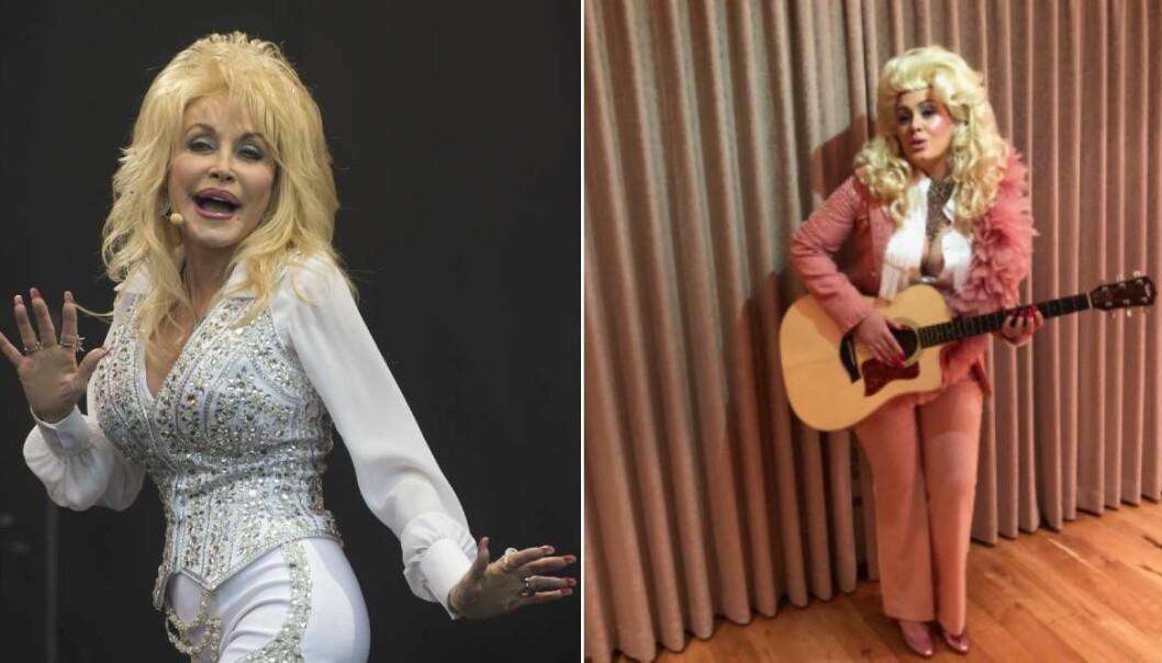 Adele klädde ut sig till Dolly Parton
