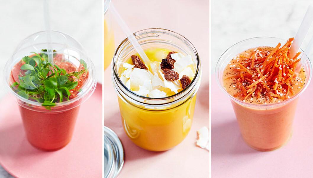 Supergoda och nyttiga smoothies.