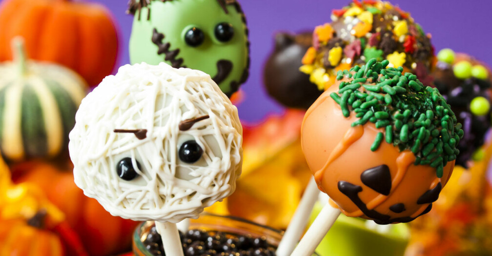 Recept på cupcake pops med Halloweentema