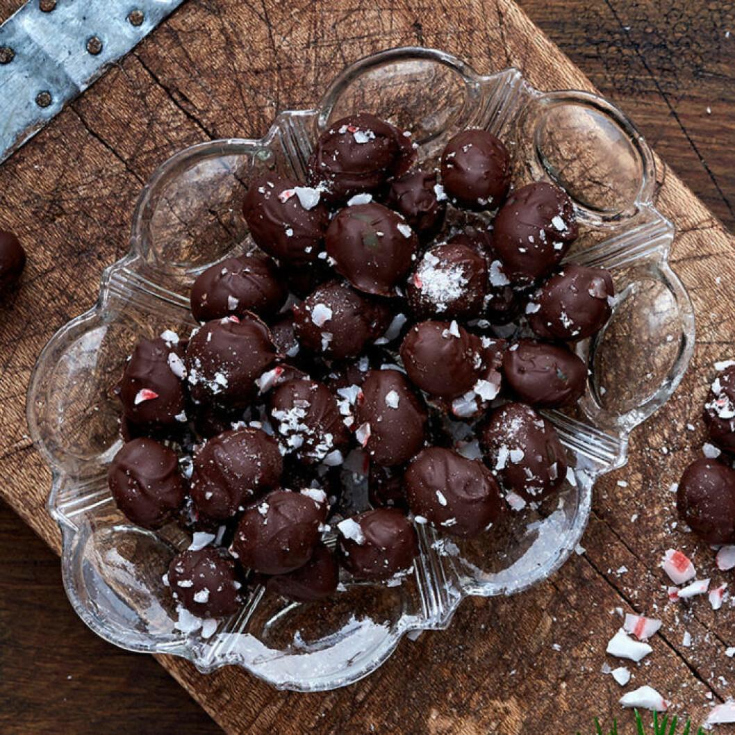 Chokladdoppade vindruvor. Foto och recept: ICA
