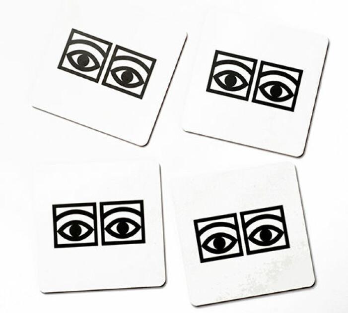 ögon kakao glasunderlägg