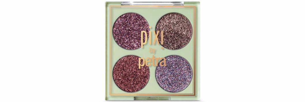 Glitterskuggor med fyra färger från NYX