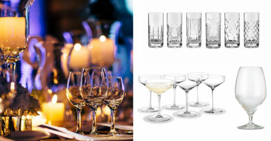 oilka glas till middagen
