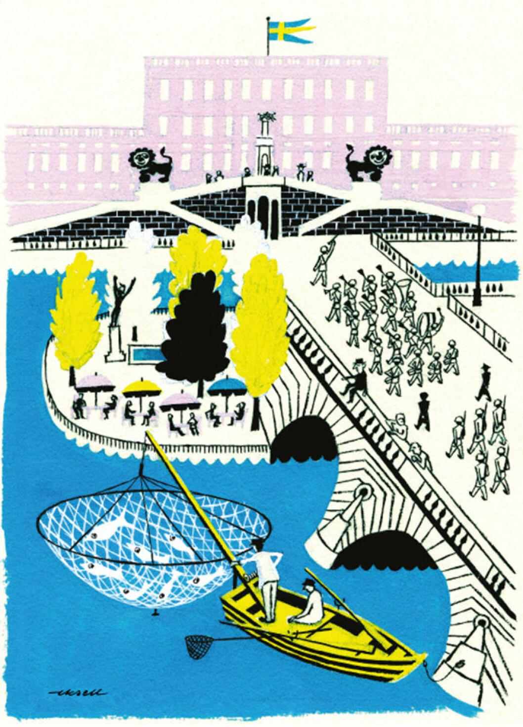 Slottet-poster av Olle Eksell – perfekt i barnrummet