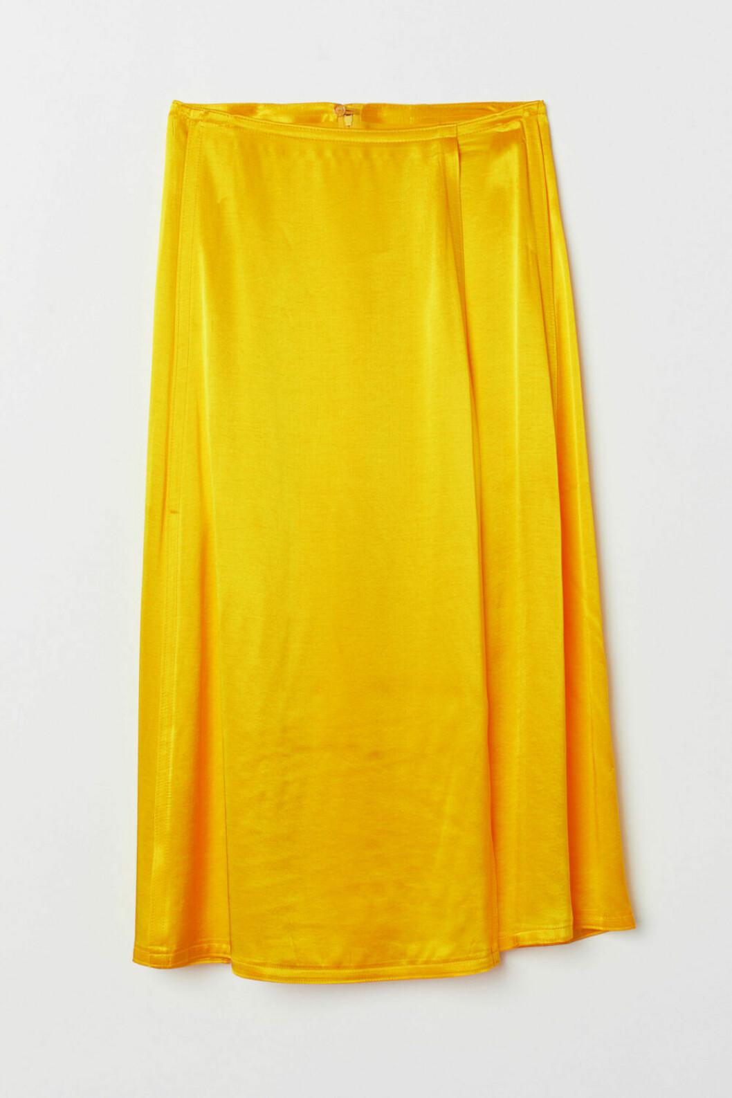 Gul kjol i satin