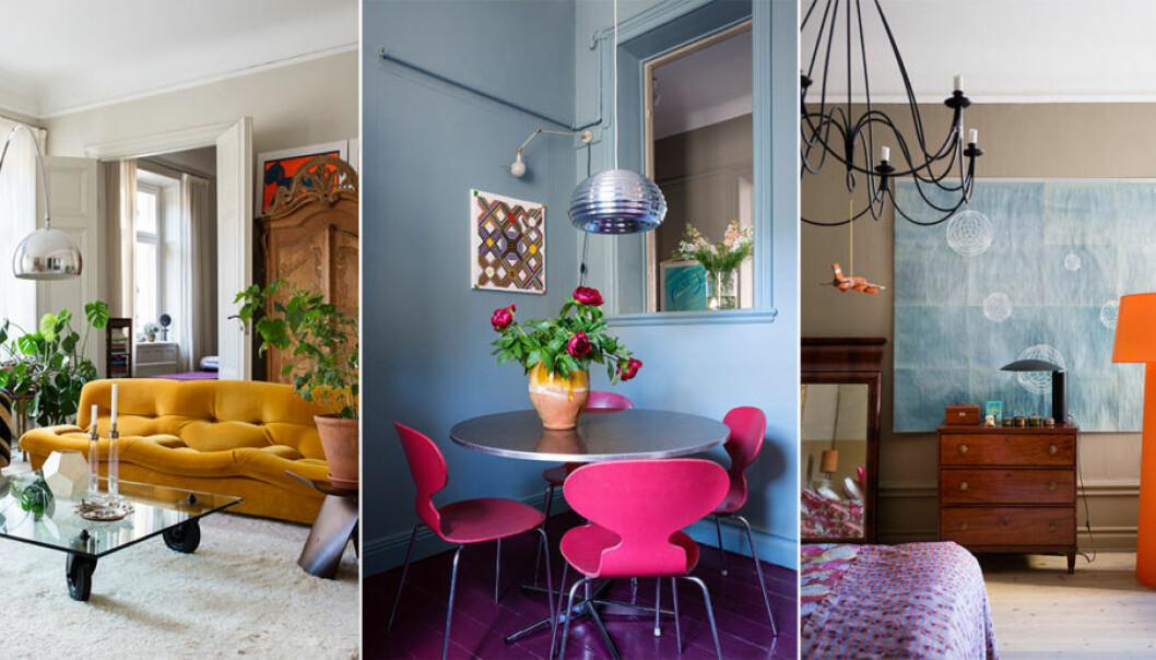 Färgstarkt hem i hjärtat av Stockholm