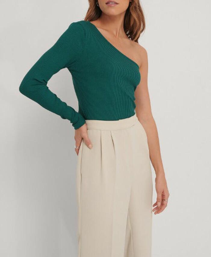 grön topp one shoulder