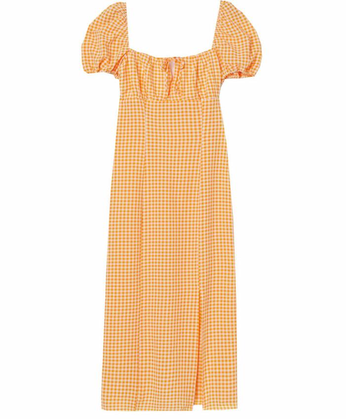 klänning med puffärm