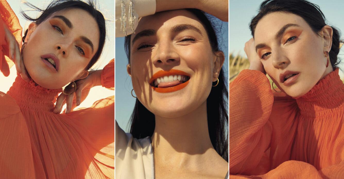 orange är makeuptrenden 2021