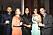 Oscar Fernandez Thunström, Linda Fernandez Eriksson, Bodil Eriksson Torp, Tonia Laflamme och Francois Laflamme på annonsmingel före ELLE-galan 2020