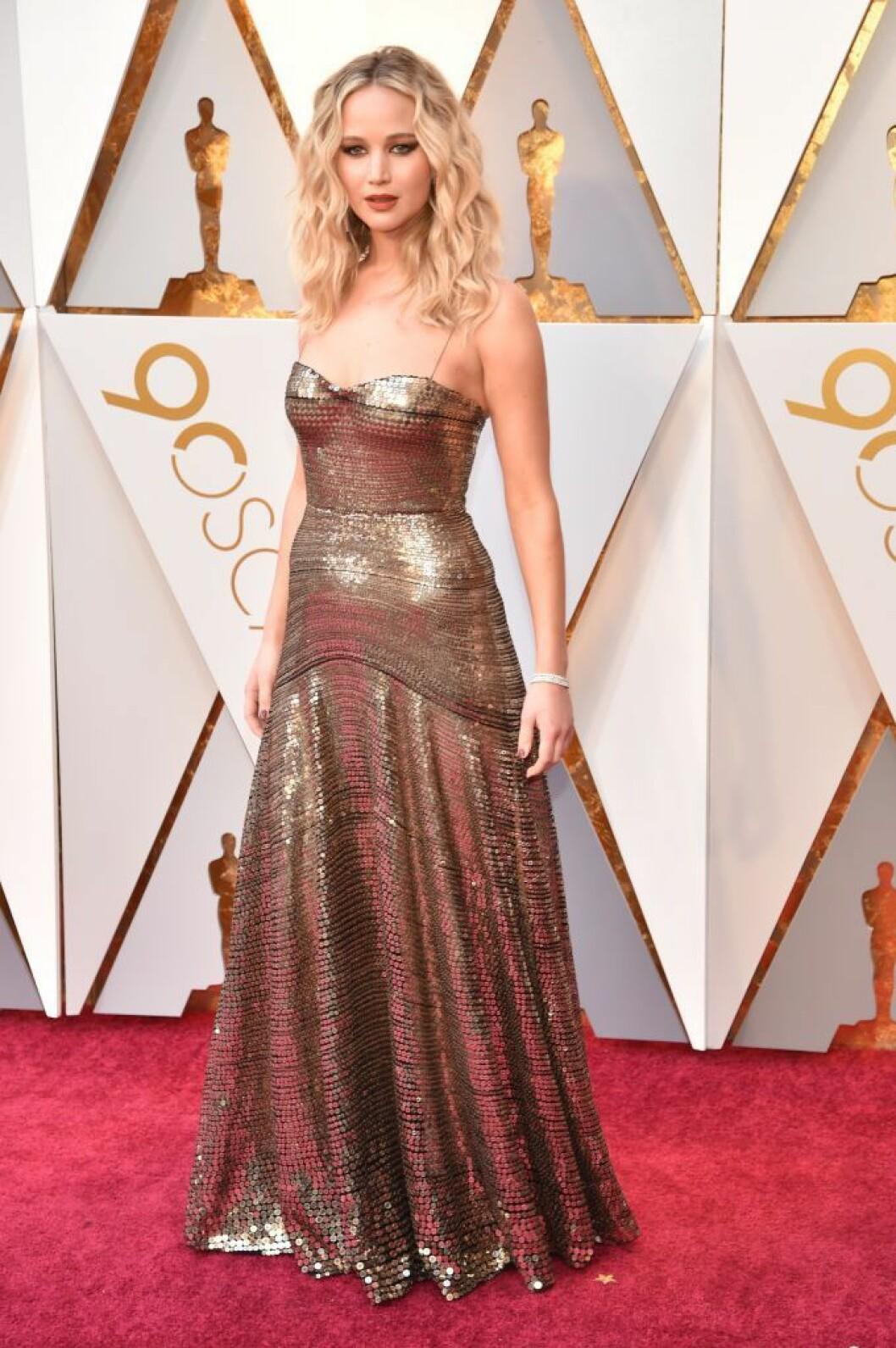 Jennifer Lawrence på Oscarsgalan 2018
