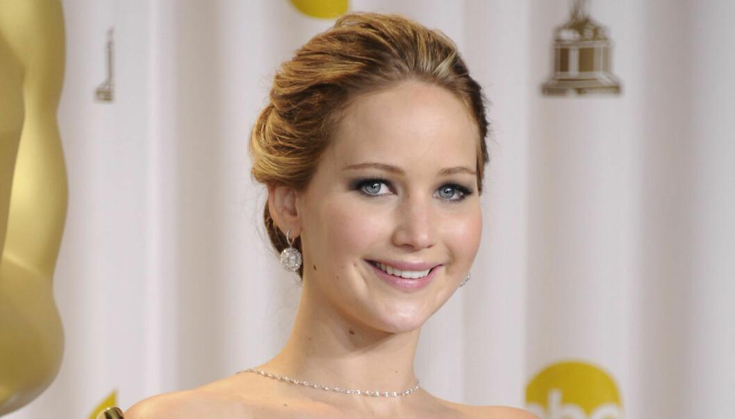 Jennifer Lawrence på Oscarsgalan 2013.