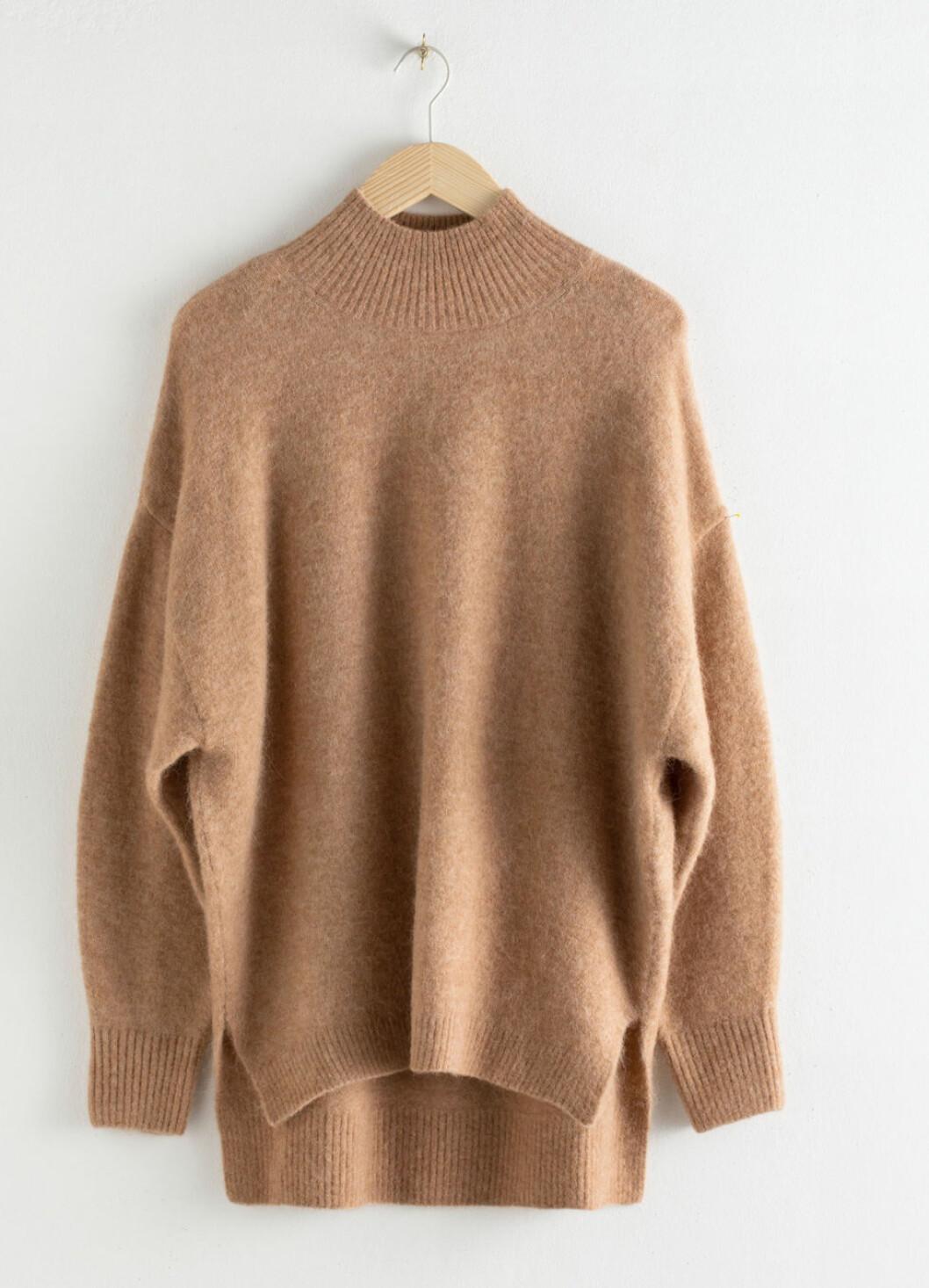 Beige stickad tröja från &other stories
