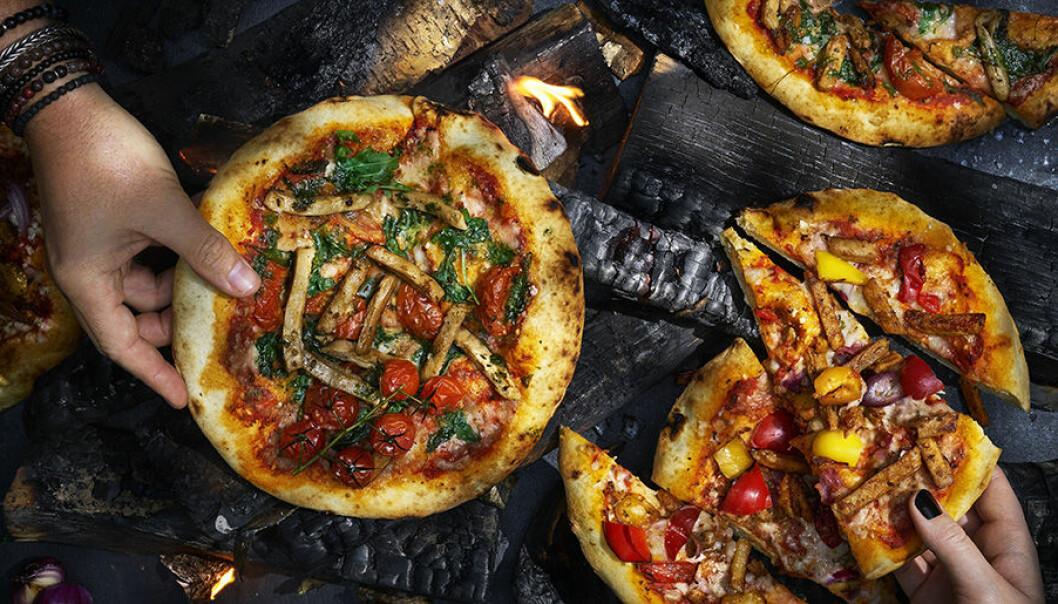 Oumph lanserar fryst veganpizza.