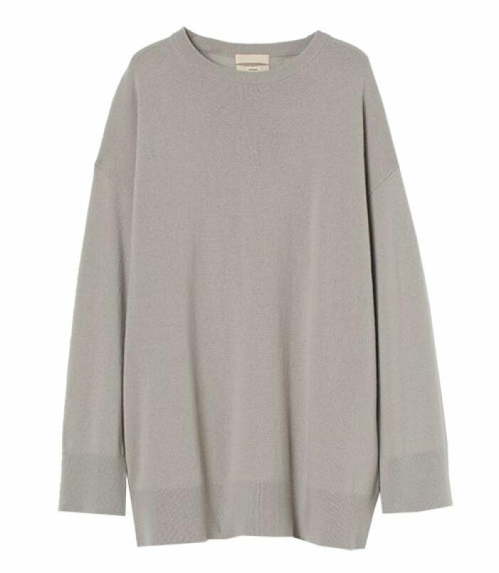 oversize stickad tröja hm