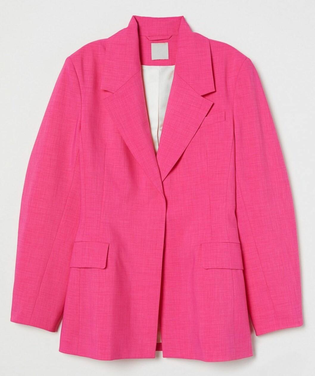 Oversized kavaj från H&M i färgstark rosa