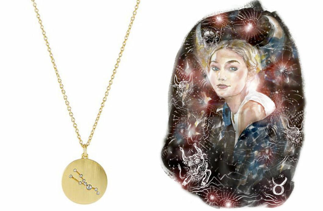 oxen smycke stjärntecken halsband horoskop