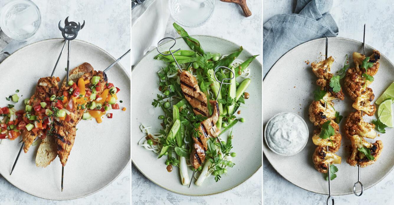 Sommarens godaste grillspett – 3 recept