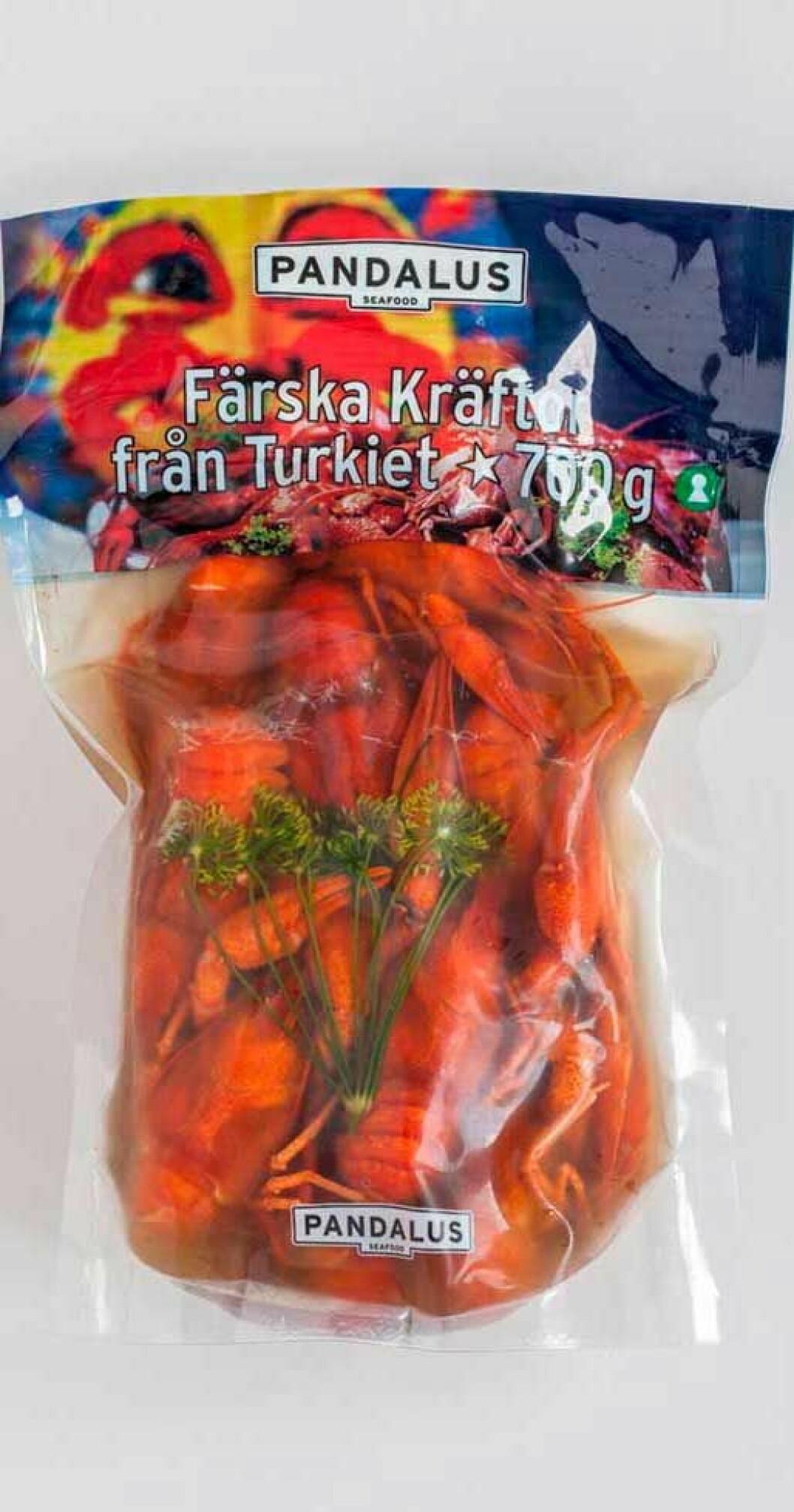Pandalus färska turkiska kräftor
