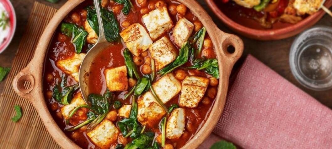 Vegetarisk curry med paneer.