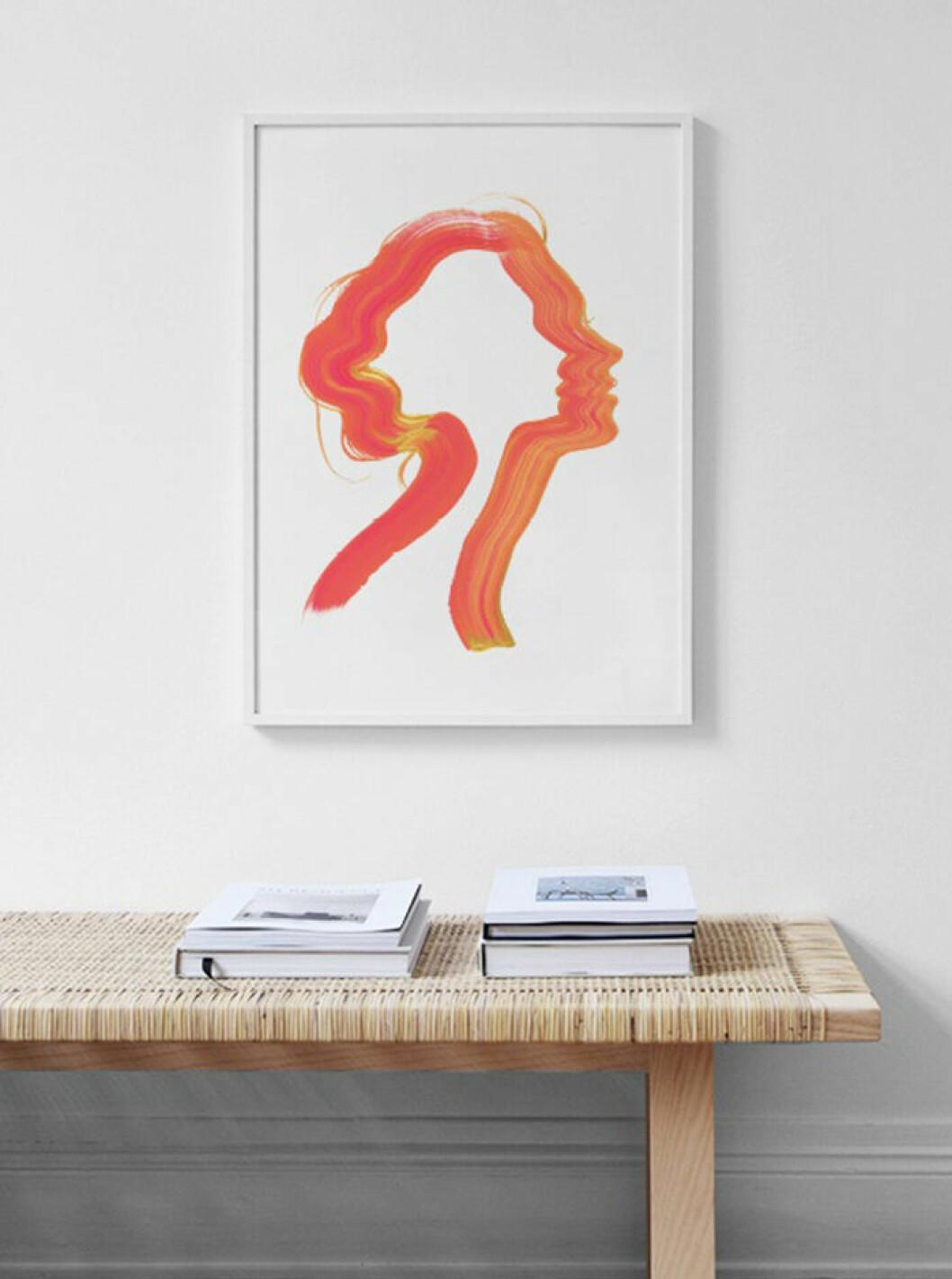 Poster med korallfärg från Desenio