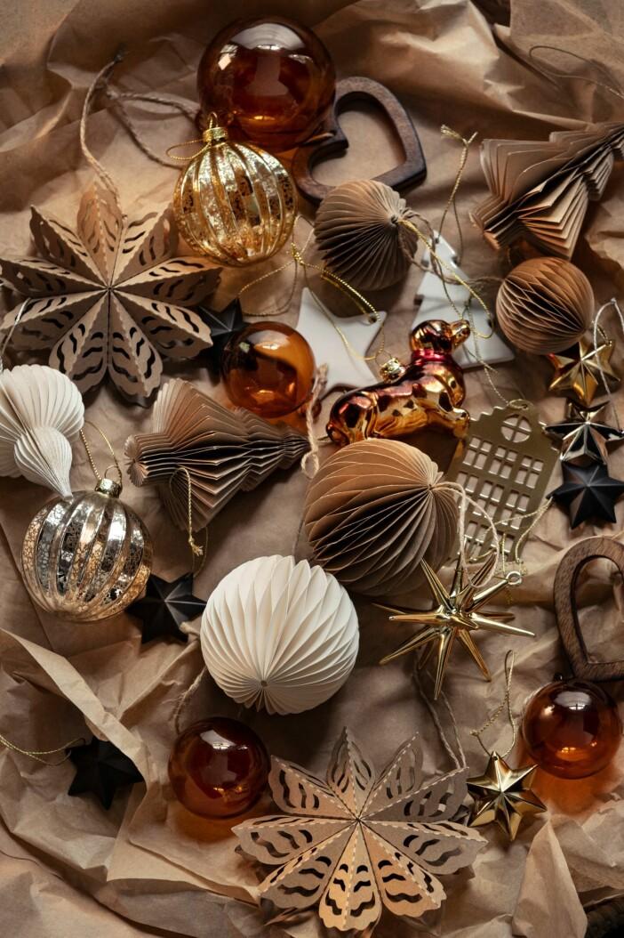 pappersdekorationer till julgranen 2020